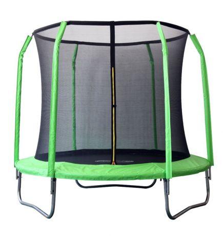 Батут с защитной сеткой внутрь, салатовый Sport Elite 2,44м GB30201-8FT