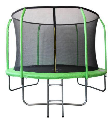 Батут с защитной сеткой внутрь, салатовый с лестницей Sport Elite 3,05м GB30201-10FT