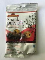 SNACK оливки green&kalamata в металлическом пакете, 80 грамм
