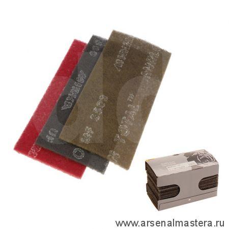Шлифовальный войлок синтетический Mirka MIRLON TOTAL 115 x 230 мм XF 800 Черный 25 шт