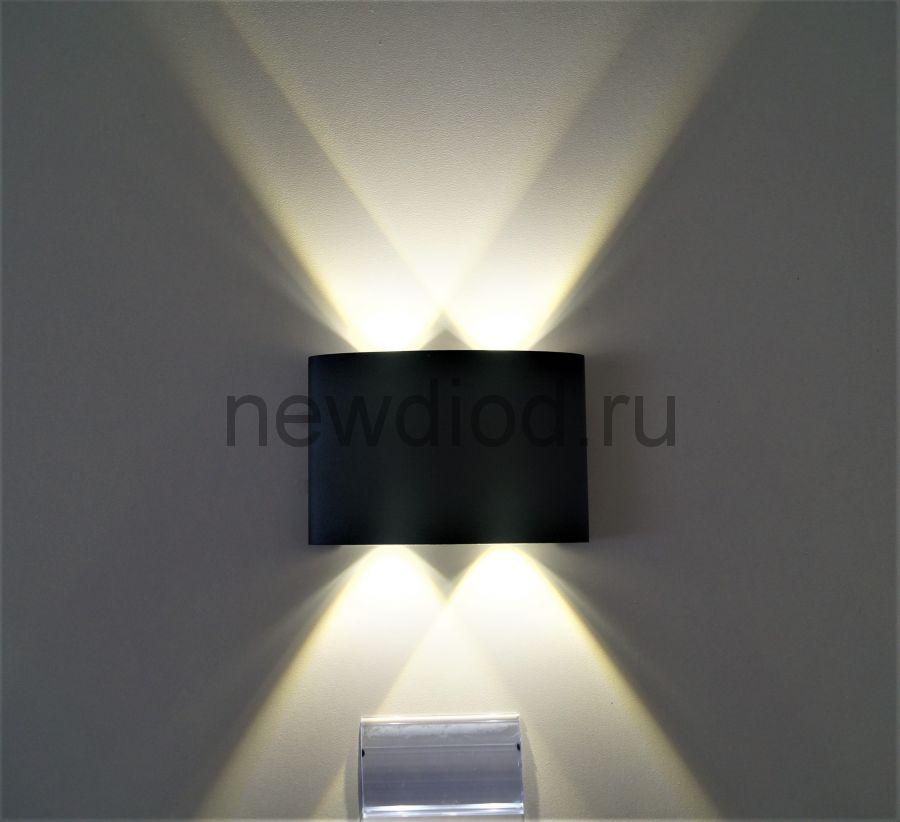 Светильник светодиодный настенный LINZA 220BK 4W-Сree 4000K 130*85*55mm IP54 черный OREOL