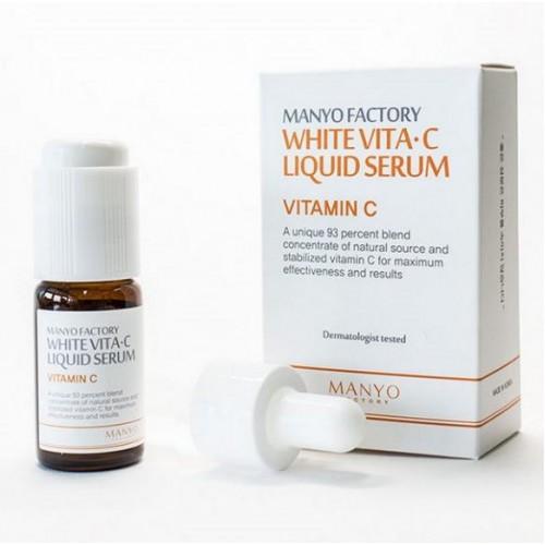 Сыворотка с порошком  витамина С  (ascorbic acid) WHITE VITA·C LIQUID SERUM 10 ml