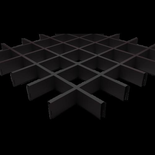 Потолок черного цвета грильято