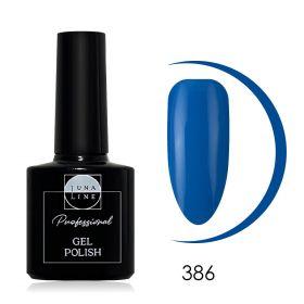 Гель-лак LunaLine 386 — бирюзово-синий