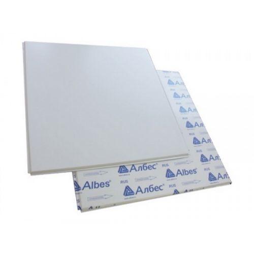 Белый матовый кассетный потолок албес