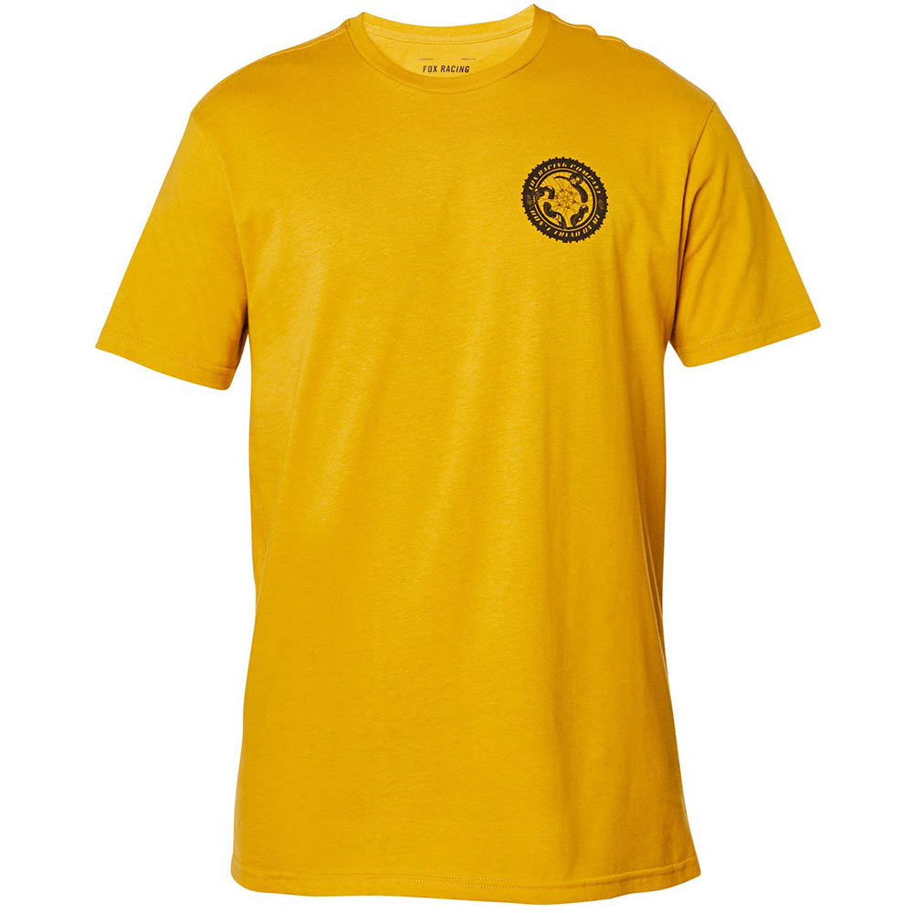 Fox Tread On SS Premium Tee  Mustard футболка