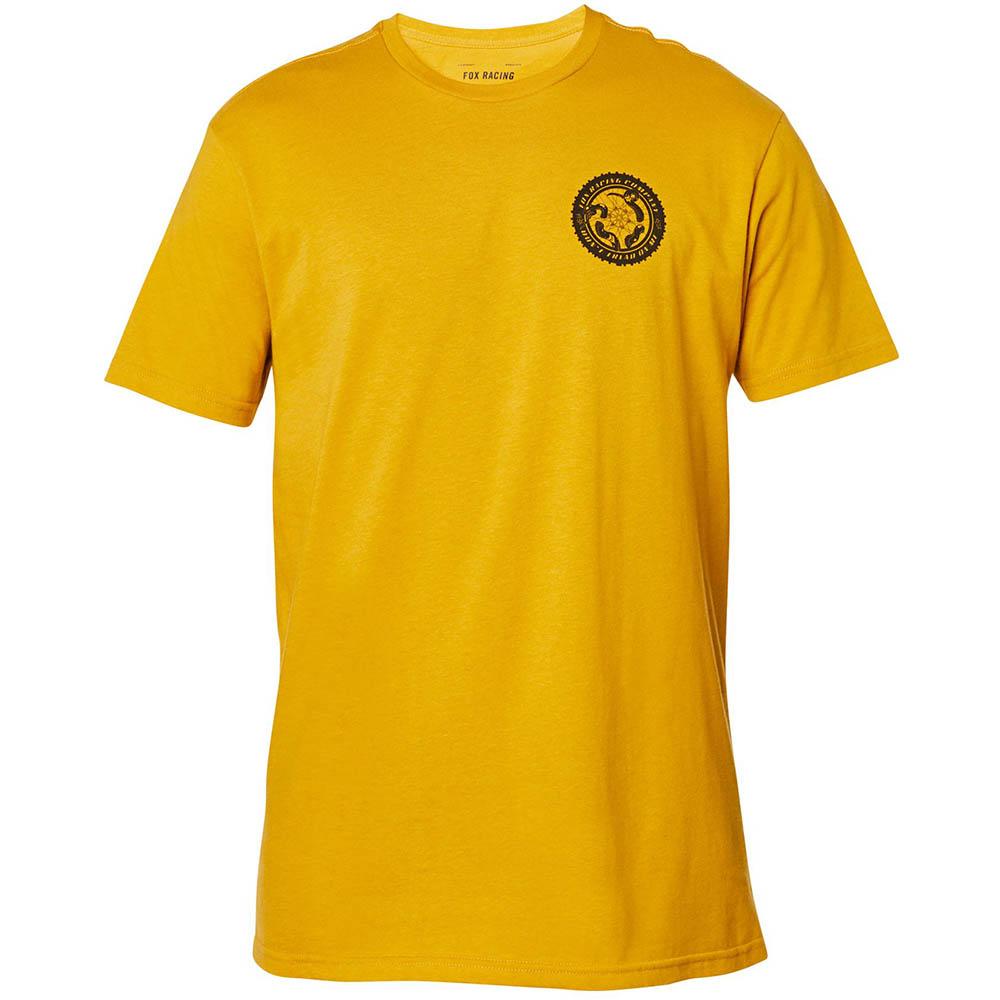 Fox Tread On SS Premium Tee  Mustard футболка