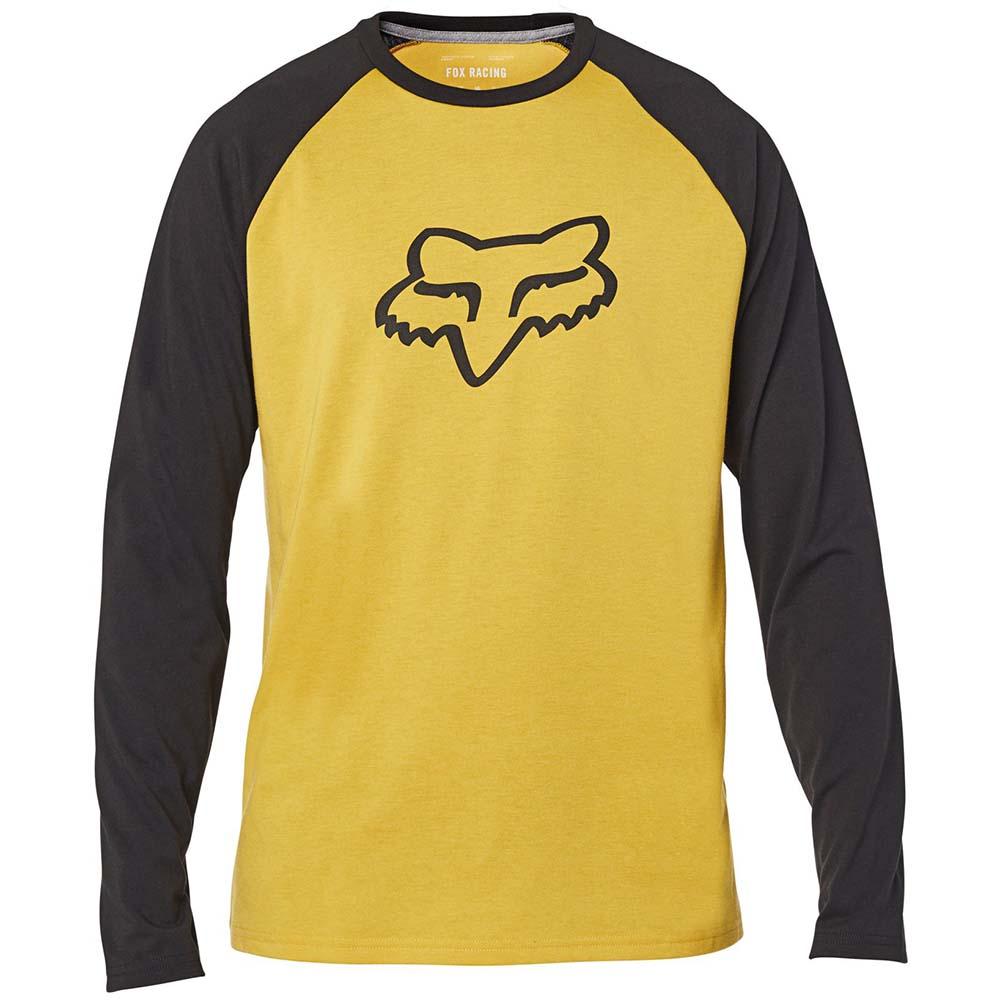 Fox Tournament LS Tech Tee Mustard футболка