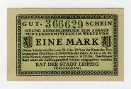 Германия нотгельд 1 марка 1919. UNC