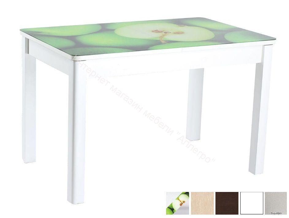 Стол Айсберг-01 СТФ 1100/1420х700 с фотопечатью Зеленые яблоки