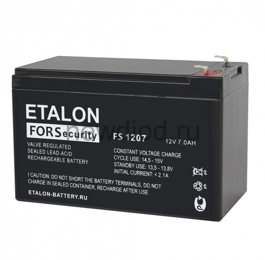 Аккумулятор ETALON FS 1207L (12В/7Ач)