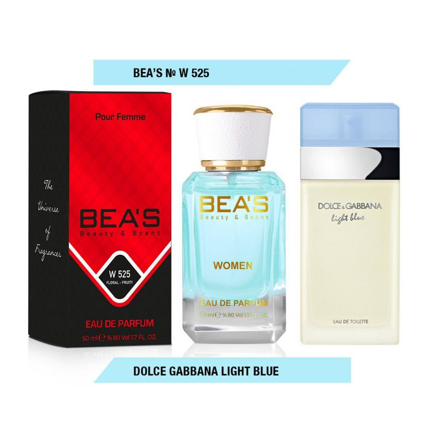 BEA'S (Beauty & Scent) W 525 - Dolce & Gabbana Light Blue For Women 50 мл