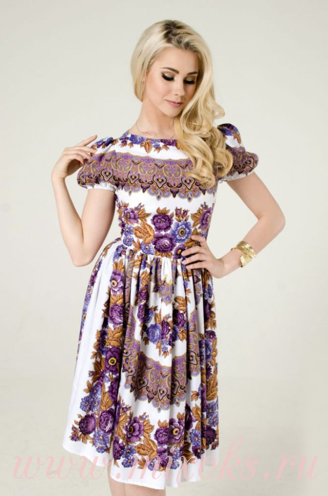 Платье летнее из настоящих платков