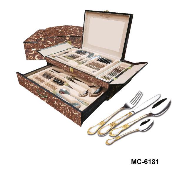 """Столовый набор 72 пр. """"Mercury"""", MC - 6181 (2), светло-коричневый мрамор"""