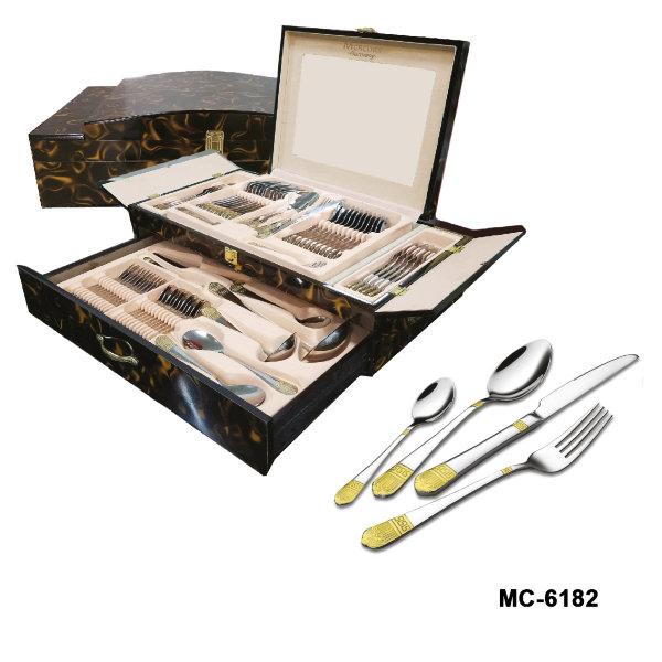 """Столовый набор 72 пр. """"Mercury"""", MC - 6182 (2) """"Версаче"""", темно-коричневый мрамор"""