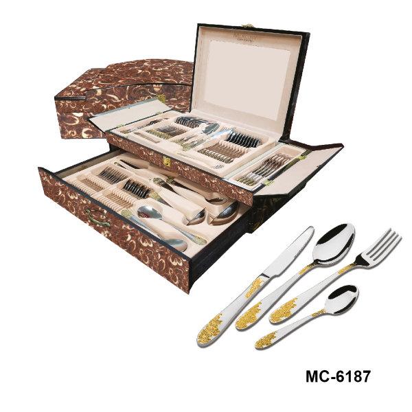 """Столовый набор 72 пр. """"Mercury"""", MC - 6187 (2) """"Виноград"""", светло-коричневый мрамор"""