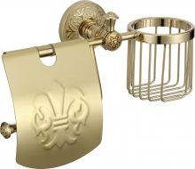 Держатель для туалетной бумаги и освежителя S-L05851B Savol левый золото