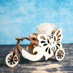 """Кашпо """"Велосипед с бабочкой"""" 26*6*23 см"""