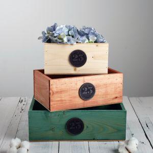 Набор деревянных ящиков 3 в 1 «23 февраля» с плашкой, 30 ? 25 ? 20 см
