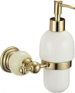 Дозатор для жидкого мыла с настенным держателем S-05731B Savol золото