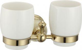 Держатель двух стаканов S-05768B Savol золото
