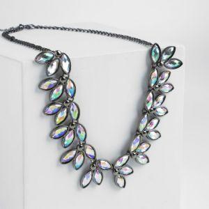 """Колье """"Виктория"""" овалы, цвет радужный в чернёном серебре, L=45 см"""