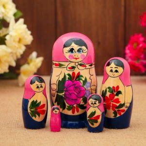 Матрёшка «Семёновская», МИКС, 5 кукольная, 10 см