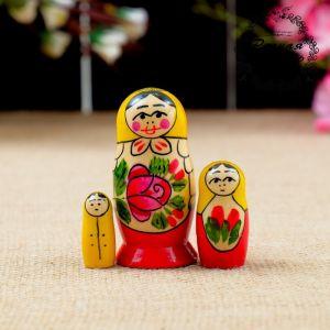 """Матрёшка """"Семёновская"""", 3 кукольная, 7х3,5 см"""