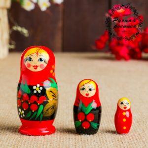 "Матрёшка ""Рябинка"", 3 кукольная"