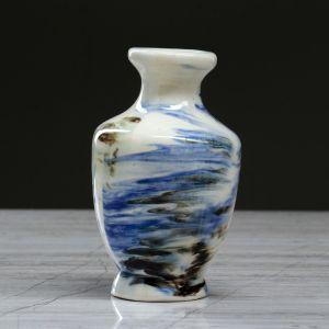 """Ваза настольная """"Дарина"""" , синяя, 12,5 см, керамика"""