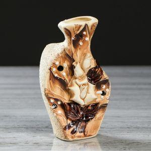 """Ваза настольная """"Леди"""", лепка, цветы, 13 см, микс, керамика"""
