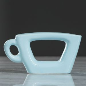 """Ваза """"Чашка"""", голубой цвет, 7 см, керамика"""