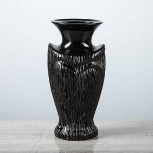 """Ваза настольная """"Амур"""", чёрная, 20,5 см, керамика"""