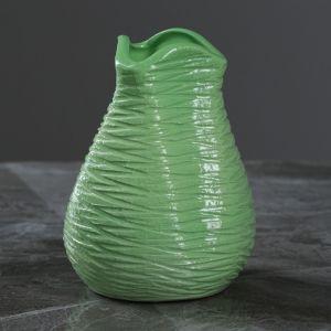 """Ваза настольная """"Бутончик"""" зеленая, 13 см, керамика"""