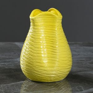 """Ваза настольная """"Бутончик"""" жёлтая, 13 см, керамика"""