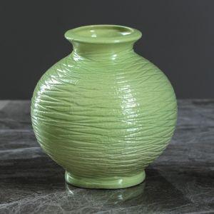 """Ваза настольная """"Шарик"""" зеленая, 13 см, керамика"""