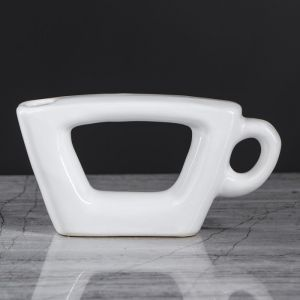 """Ваза """"Чашка"""", белый цвет, 7 см, керамика"""