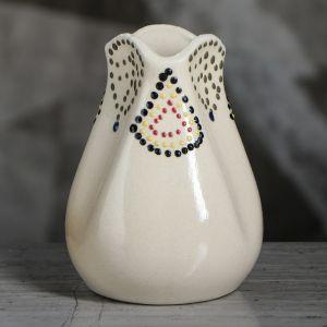 """Ваза настольная """"Бутончик"""", глазурь, цвет белый, 11 см , керамика"""
