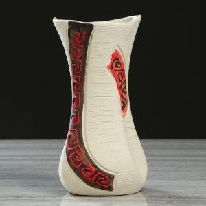 """Ваза настольная """"Румба"""", под шамот, греческие мотивы, 19 см, микс, керамика"""