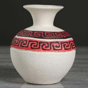 """Ваза настольная """"Греция"""", под шамот, 11.5 см, микс , керамика"""