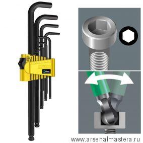 Набор Г-образных ключей дюймовых WERA 950 PKL/13 SZ N BlackLaser 13 шт WE-021728