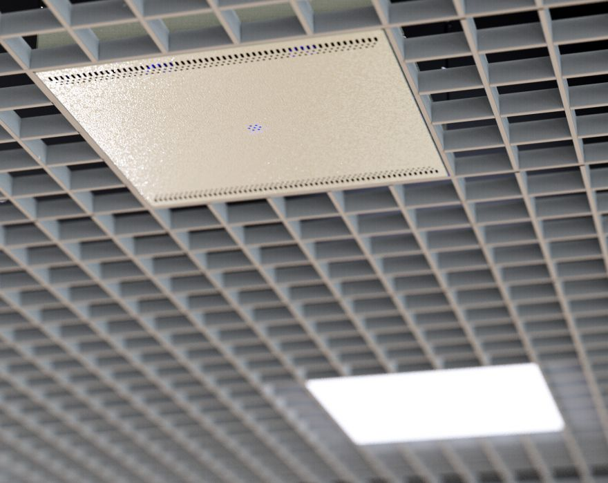 Рециркулятор бактерицидный потолочный Фотонит-А15: Армстронг+Грильято, до 45 куб.м