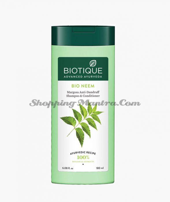 Биотик Ниим шампунь-кондиционер против перхоти  | Biotique Bio Margosa Anti-Dandruff Shampoo & Conditioner