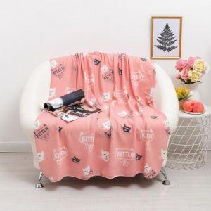Плед Киттен розовый 120х150см, флис 120г/м пэ100% 5202090