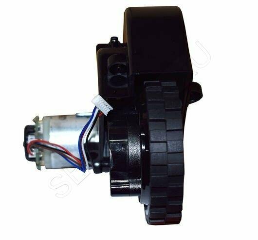 Правое колесо робота-пылесоса TEFAL в сборе с мотором моделей RG68..., RG72.... Артикул RS-2230001040