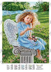Dana DANA-2311. Ангелок схема для вышивки бисером купить оптом в магазине Золотая Игла