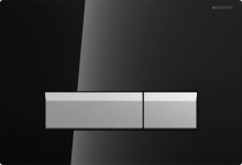 Cмывная клавиша Geberit Sigma 40, со встроенной системой удаления запаха, металл, цвет чёрный 115.600.SJ.1