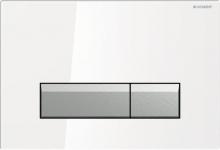 Cмывная клавиша Geberit Sigma 40, со встроенной системой удаления запаха, металл, цвет белый 115.600.SI.1