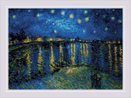 Набор для вышивания крестом Звездная ночь над Роной №1884 фирма Риолис