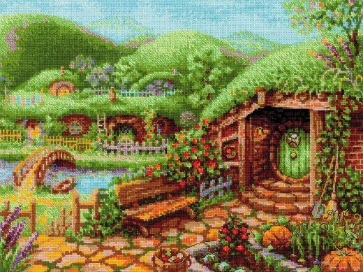 Набор для вышивания крестом Зеленые холмы №1904 фирма Риолис